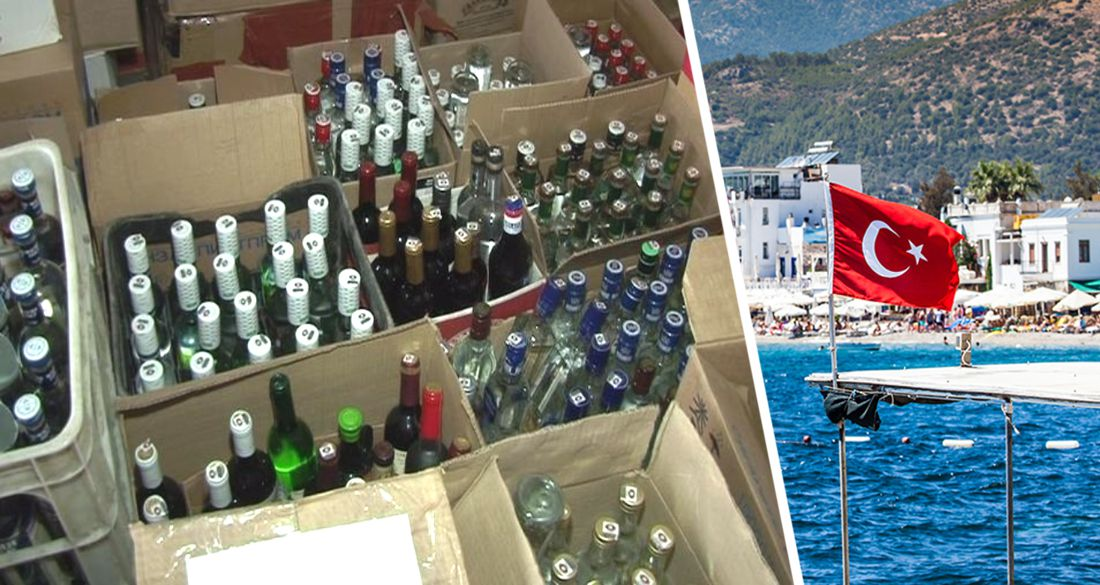 В Анталии накрыли отель, спаивавший туристов поддельным алкоголем: изъято 498 литров опасного зелья