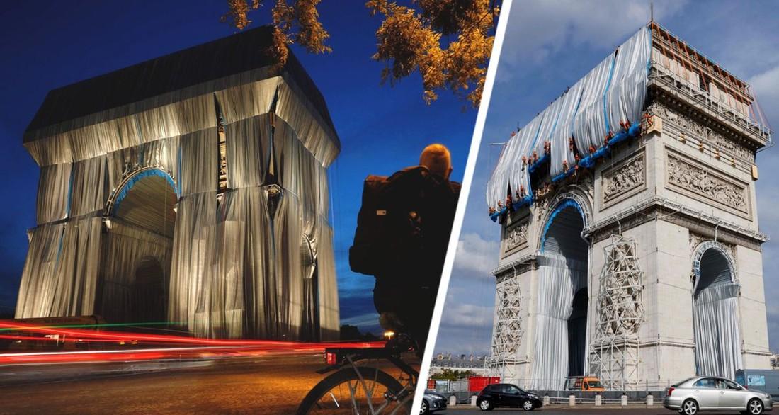 Инсталляция Триумфальной арки Парижа привела туристов в замешательство и посеяла бурю возмущений