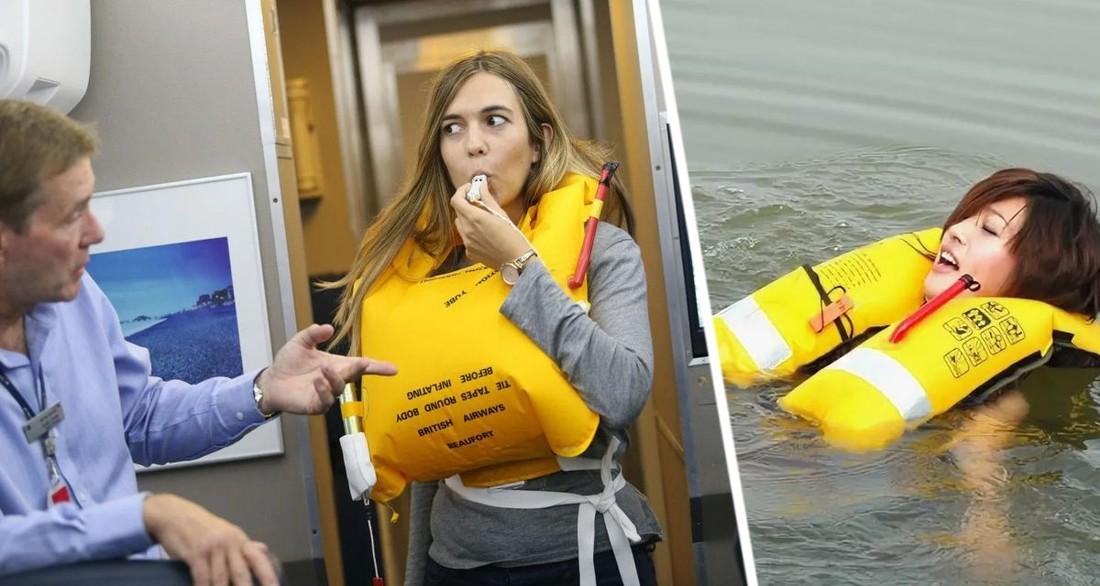 Стюардесса объяснила, почему никогда нельзя надувать спасательный жилет в самолете, даже если вы упадете в воду
