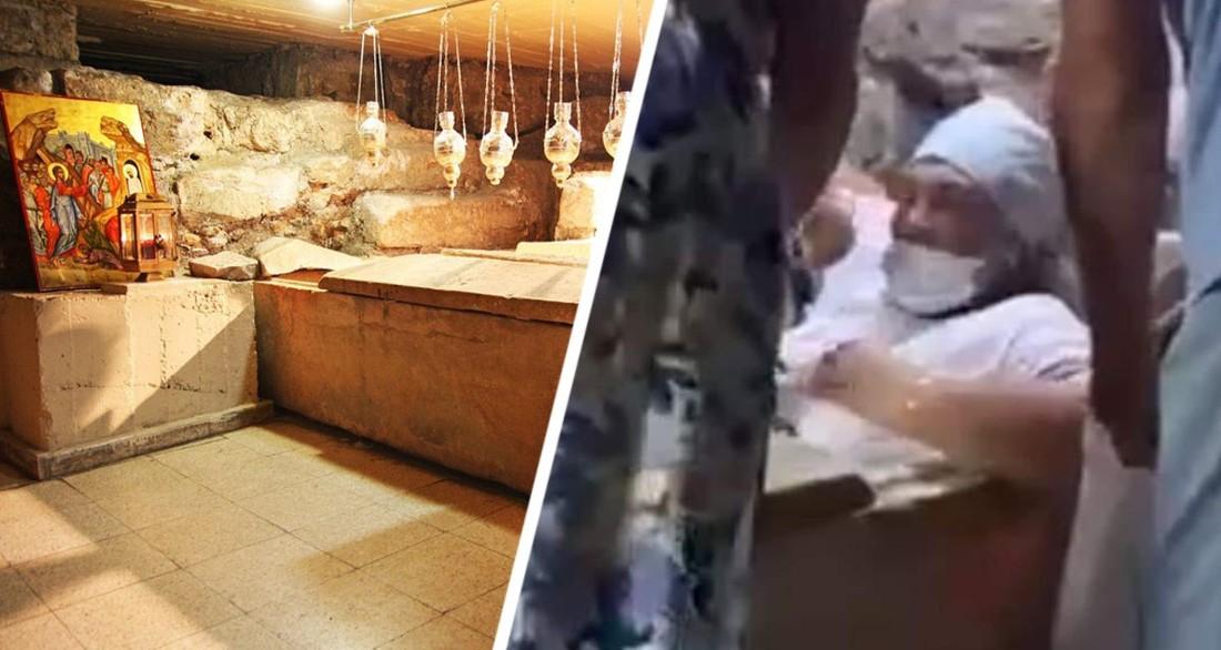 Российская туристка застряла в гробу Святого Лазаря на Кипре
