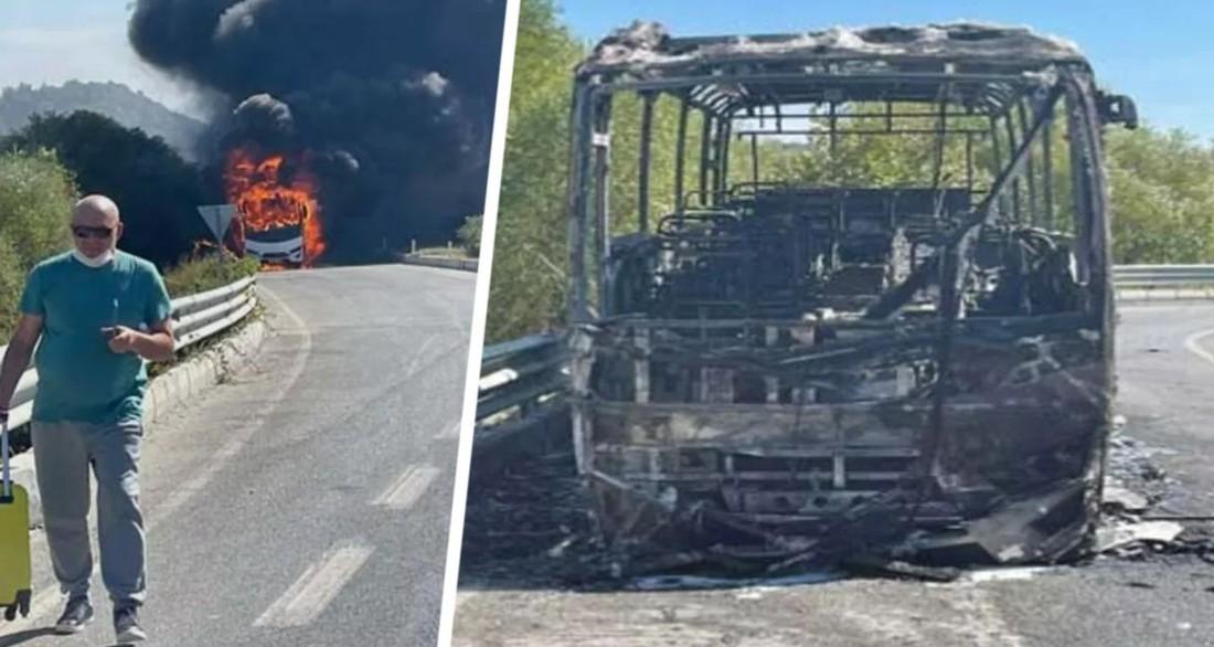 ЧП в Турции: автобус, перевозивший российских туристов, сгорел дотла