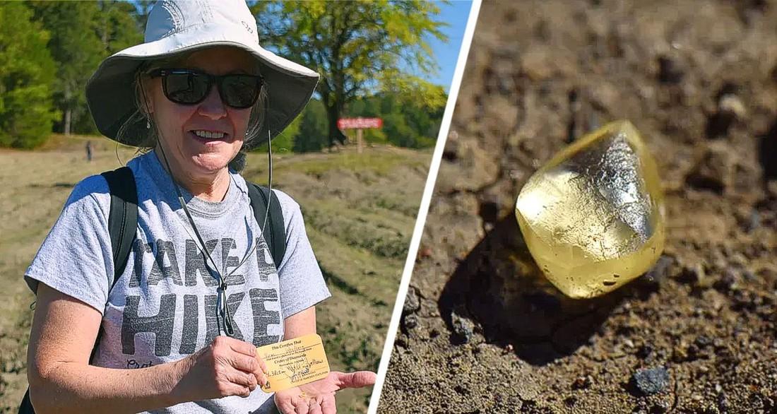 Власти разрешили туристке забрать себе большой алмаз, который она нашла в национальном парке
