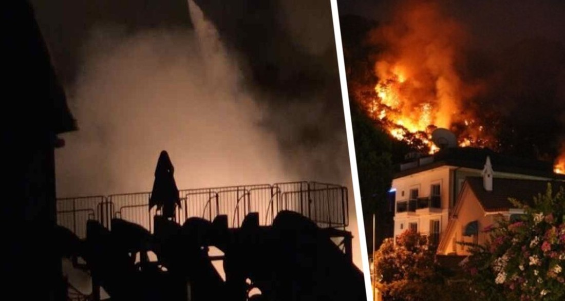 В Турции в отеле произошла серия взрывов, начался пожар