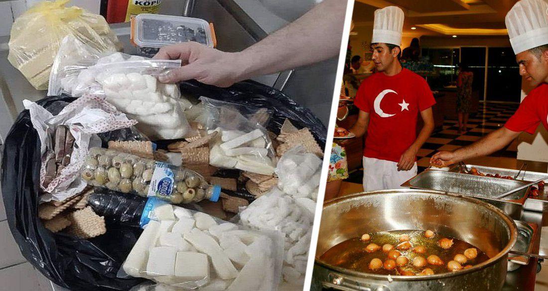 Ошеломляющее свинство: турки были шокированы, поймав в 5-звездочном отеле туриста, набившего чемодан едой со шведского стола All inclusivе